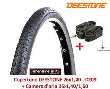 Copertone DEESTONE 26x1,40 D209 Slick +Camera d'aria x bici 26 MTB Mountain Bike