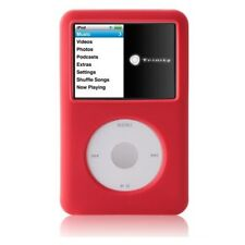 Red Rubber Silicone Skin Cover Case For iPod Video 30GB Classic 80GB/120GB/160GB