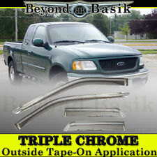1997-2003 Ford F-150 3/4 DR Extended Cab 4PC Chrome Door Vent Visors Rain Guards