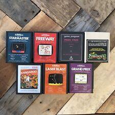 Lot of 7 Atari 2600 Games Starmaster Laser Blast Kangaroo