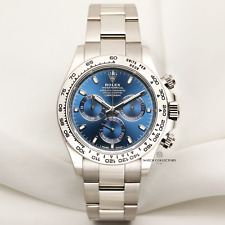 Rolex Daytona 116509 18k White Gold blue dial