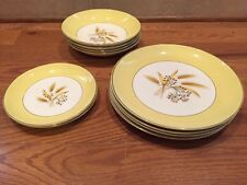 Vintage Century Service China  Autumn Gold dinner dessert plate soup bowl