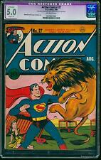 Action Comics #27 CGC VG/FN 5.0 Off-White   DC Superman