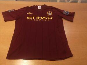 Umbro Manchester City JACKE SHIRT TRIKOT JERSY CAMISETA MAGLIA size 40