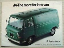 AUSTIN MORRIS J4 Van Pick Up Chassis Cab Sales Brochure May 1972 #2863/B