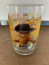 """McDonald'S 2007 Shrek """"Forever After"""" Puss In Boots Tumbler 5"""" Tall Pre-Owned"""