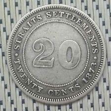 *Very Scarce + Key Date * Straits Settlements - 1873 - 20 Cents Victoria #CCXL