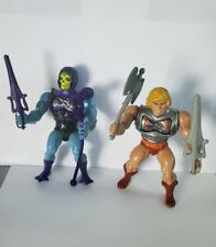 Vintage MOTU Battle Armor He-Man Skeletor near mint