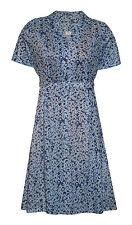 Calf Length Polyester Short Sleeve Tea Dresses for Women