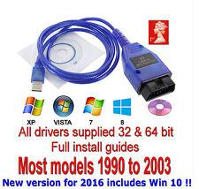 Cable Usb KKL Vag-com 409.1 Obd2 Ii OBD diagnóstico escáner VW/Audi/Seat Vcd