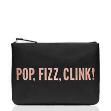 KATE SPADE CLUTCH! Gia in Pop, Fizz, Clink! NWT BLACK/ROSE GOLD :)