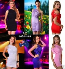 Polyester/Spandex Stretch Short Sleeve Dresses for Women