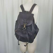 Vintage Brown Leather Backpack Ruck Sack School Travel Overnight Shoulder Bag