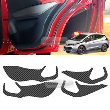 Carbon Door Decal Sticker Scratch Cover Protector For Chevrolet 2017-2019 Bolt