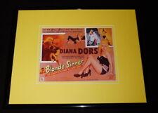Blonde Sinner Framed 11x14 Poster Display Diana Dors
