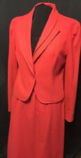 Vintage red wool Skirt Suit by Glen Aire Size 5 Women great details