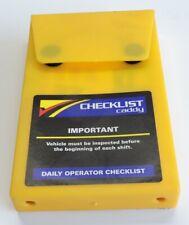 Checklist Caddy Daily Operator Checklist Reach And Order Picker Lift Truck