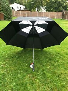 """NEW Double Canopy Strong Windproof LONG JL golf Umbrella 58"""" 148cm vented"""