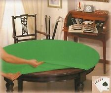 Copritavolo panno verde gioco tavolo rotondo cm 135 diametro poker texas hold'em