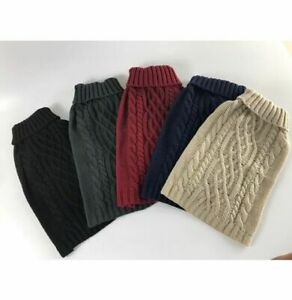 Wagytail Cable Knit Dog Winter Jumper