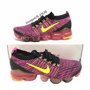 Nike Air VaporMax Flyknit 3 Laser Fuchsia Women's Shoes Size 7.5 Pink AJ6910-600