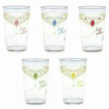 NEW Sailor Moon Glasses Cups 5-Set Tiara Japan Venus Mars Jupiter Mercury Scouts