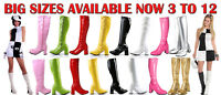 LADIES WOMEN'S GIRLS FANCY DRESS 1960'S 70'S KNEE HIGH QUALITY GO GO RETRO BOOTS