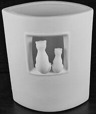 Design Katzen Lampe Porzellan 22 cm Tischlampe Tischleuchte NEU OVP