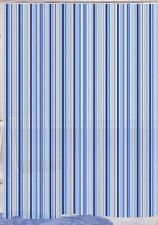 Blue Canyon Peva Rideau de douche-rayures bleu - 180 cm x 180 cm-Free p&p