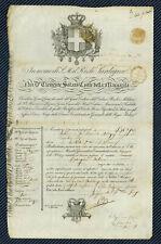 PEU COURANT - Passeport du Royaume de Piémont-Sardaigne pour la France - 1838