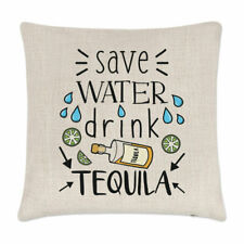Save Water Drink Tequila Cushion Cover Pillow Funny Joke Drunk Alcohol