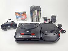 Sega Mega Drive II Konsole + Mega CD + Original Controller + 6 Spiele Sonic 1&2