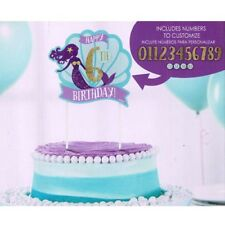 MERMAID WISHES CUSTOMIZABLE CAKE DECORATION ~ Birthday Party Supplies Ocean Sea
