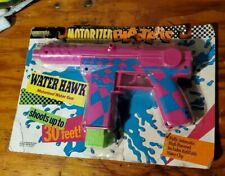 Vintage Entertech MOTORIZED Blaster Water Gun MoC Water Hawk 1990 UZi Parenthood