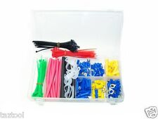 308 pc Electrical Terminal Connector Cable Tie Clamp Heat Shrink Set Assortment