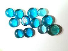 Decorative Glass Pebbles Rocks Blobs Cabochons Transparent 11-Light Blue