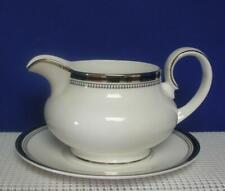 SARABANDE by Royal Doulton China GRAVY SAUCE BOAT & UNDERPLATE Black Band H5023