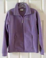 COLUMBIA Girls size 14-16 Purple Zip Front FLEECE JACKET