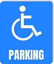 Handicapped Parking Accessible Metal Outdoor Sign Parking Signage
