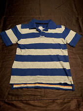 Kids' Cherokee Blue/Grey Striped Polo Shirt Size: M Excellent Condition