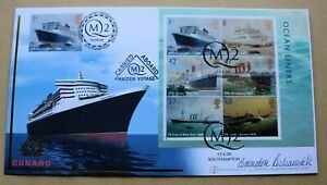 QUEEN MARY 2 MAIDEN VOYAGE 2004 BUCKINGHAM COVER SIGNED CAPTAIN RONALD WARWICK