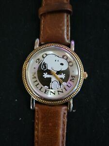 Vintage Peanuts Armitron Snoopy Millennium Watch