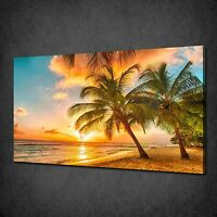 CARIBBEAN ISLAND OF BARBADOS SUNSET CANVAS WALL ART PRINT PICTURE READY TO HANG