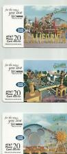 Disney California Adventuren Set of 3  Phone Cards - AT&T  20 Min