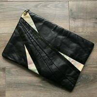 Vintage Dame by David Mehler Leather Clutch Envelope Bag Purse Black