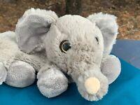 "Beautiful Gray Elephant Zipper Pouch Bag 12"" SOFT Plush Stuffed Animal Toy"