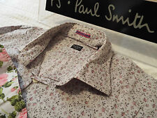 "PAUL SMITH Mens Shirt 🌍 Size 16"" (CHEST 40"") 🌎 RRP £95+📮 FLORAL LIBERTY STYLE"