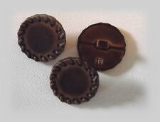 4 BOUTONS Marron imit Cuir * 23 mm 2,3 cm * pied * Button Sewing mercerie