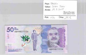 BILLET COLOMBIE - 50 000 pesos 19/8/2015 - Pick 462 - N°556