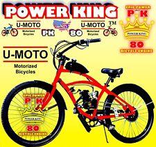 "66cc/80cc 2-STROKE MOTORIZED BIKE KIT AND 26"" CRUISER BIKE DIY MOTOR BIKE POWER"